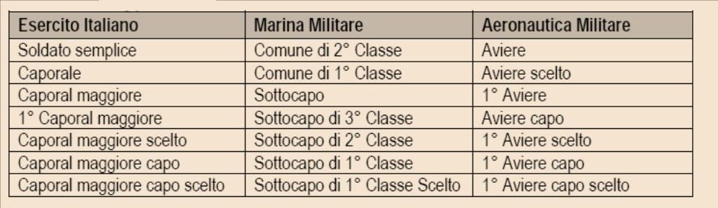struttura organizzativa delle forze armate