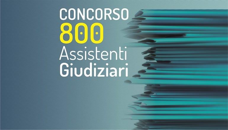 concorso 800 assistenti giudiziari