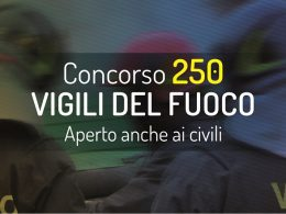 Concorso 250 Vigili del Fuoco: tutte le notizie aggiornate