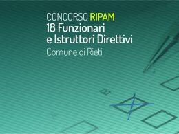 Concorsi RIPAM – 18 funzionari al Comune di Rieti: pubblicata la banca dati