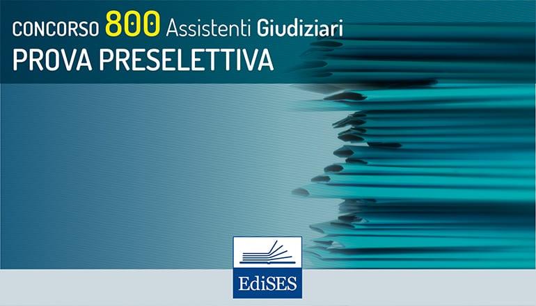 prova preselettiva concorso 800 assistenti giudiziari