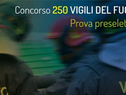 La prova preselettiva del concorso per 250 Vigili del Fuoco