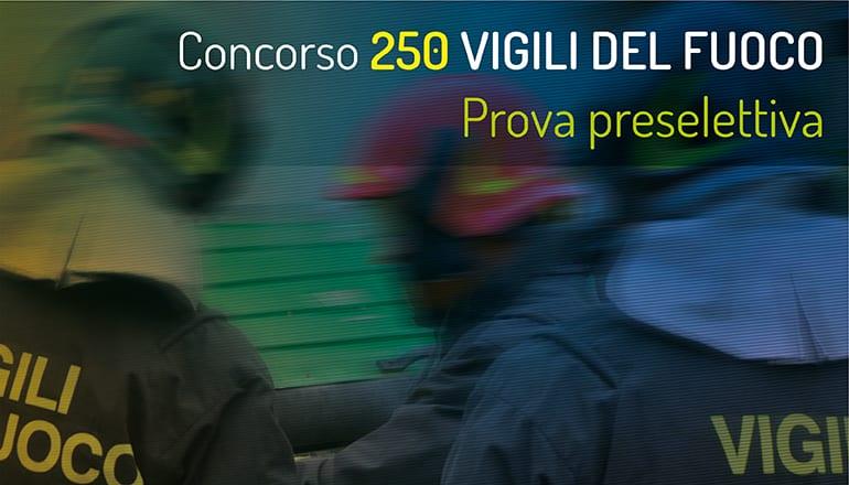 preselezione concorso 250 vigili del fuoco