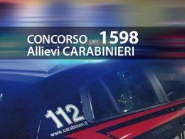 Concorso 1598 Allievi Carabinieri: aumento dei posti a 1868