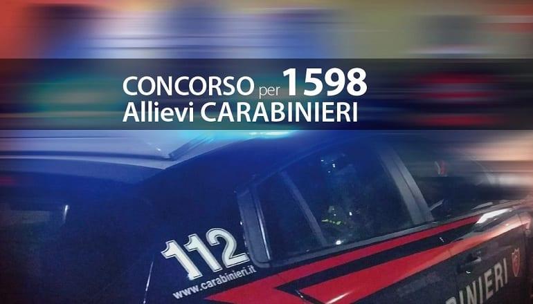 concorso 1598 allievi carabinieri