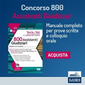 concorso 800 assistenti giudiziari prove scritte