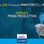 Concorso per 250 Funzionari al Ministero dell'Interno: pubblicata la banca dati per la preselezione
