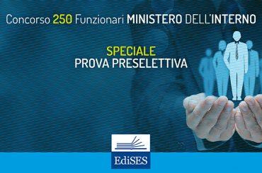 La prova preselettiva del concorso per 250 Funzionari al Ministero dell'Interno