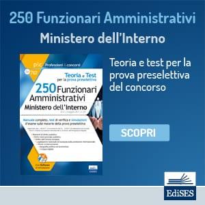 manuale concorso funzionari amministrativi ministero interno