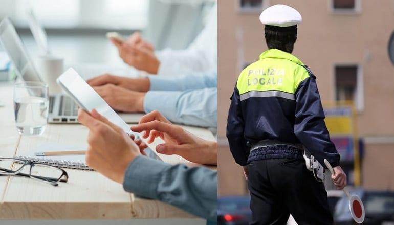 concorso polizia municipale e istruttori amministrativi