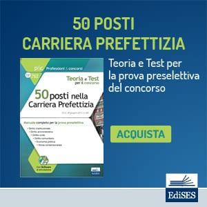 concorso 50 posti carriera prefettizia