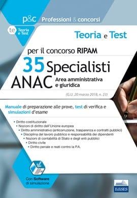 concorso 35 specialisti anac