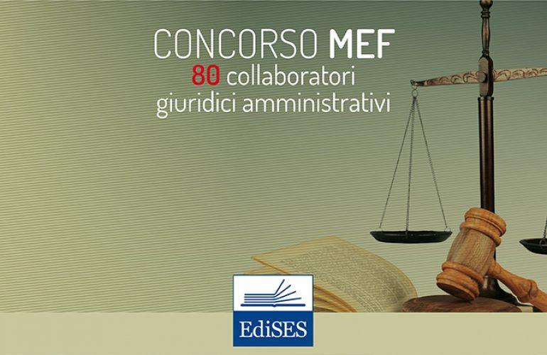 Concorso MEF 2018: 80 collaboratori amministrativi con orientamento giuridico