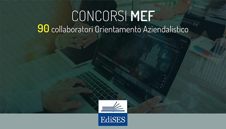 concorso mef 90 collaboratori aziendalisti