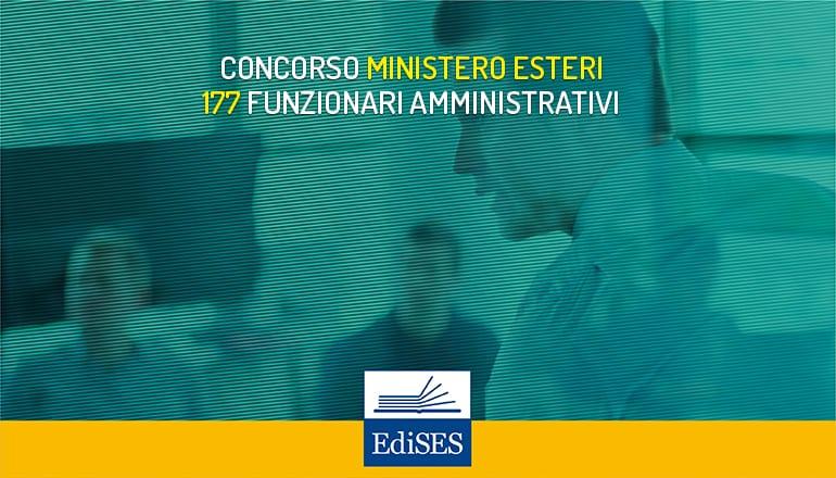 concorso funzionari amministrativi ministero esteri