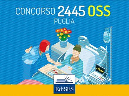 Concorso 2445 OSS Puglia: bando in Gazzetta