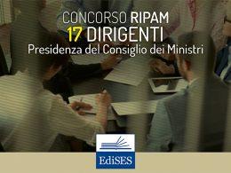 Concorso RIPAM per 17 dirigenti alla Presidenza del consiglio dei ministri