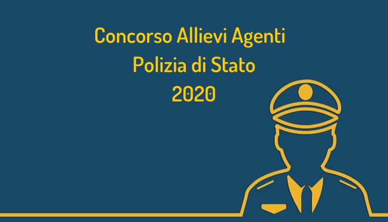 Concorso Allievi Agenti Polizia di Stato 2020