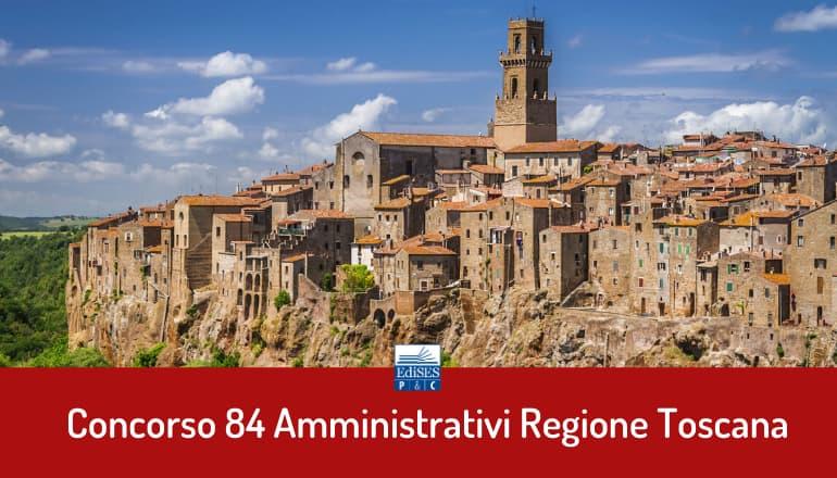 concorso 84 amministrativi toscana