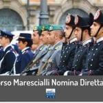 Concorso Marescialli Forze Armate 2020: 32 reclutamenti a nomina diretta