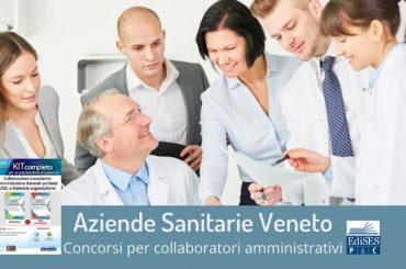 Regione Veneto: concorsi per amministrativi presso varie aziende sanitarie