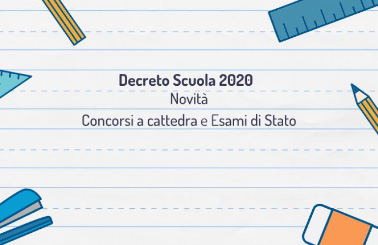 Decreto Scuola: le novità per concorsi a cattedra e esami di Stato
