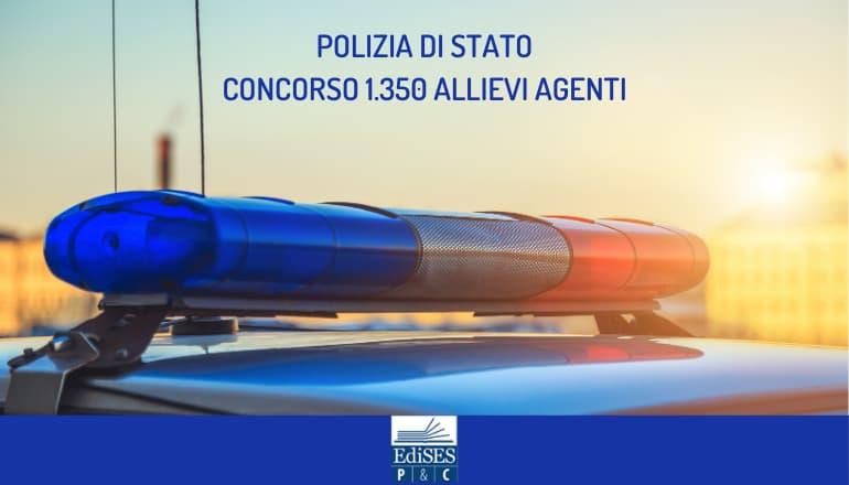concorso 1350 allievi agenti polizia di stato