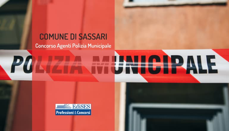 concorso agenti polizia municipale sassari