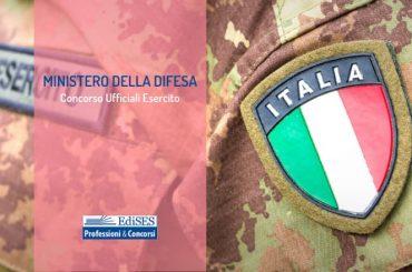 Esercito italiano: concorso per 108 ufficiali in servizio permanente