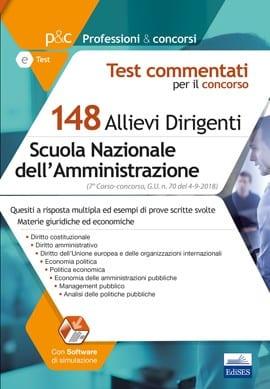 test concorso 148 allievi dirigenti sna