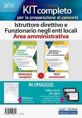 kit concorsi istruttori direttivi amministrativi