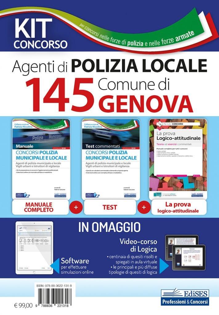 kit concorso 145 agenti polizia municipale genova